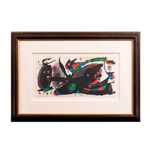 Joan Miró. Inglaterra, De la serie Miró Escultor No. 3 1974-1975. Firmada en plancha. Litografía sin número de tiraje.