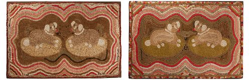 Important Pair of Dog Shirred Rugs