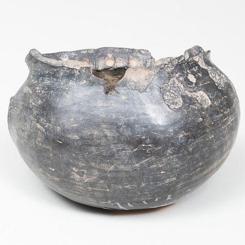 Pre-Columbian Style Pottery Animal Mask Form Vessel