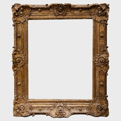 Large Louis XV Style Giltwood and Composition Frame