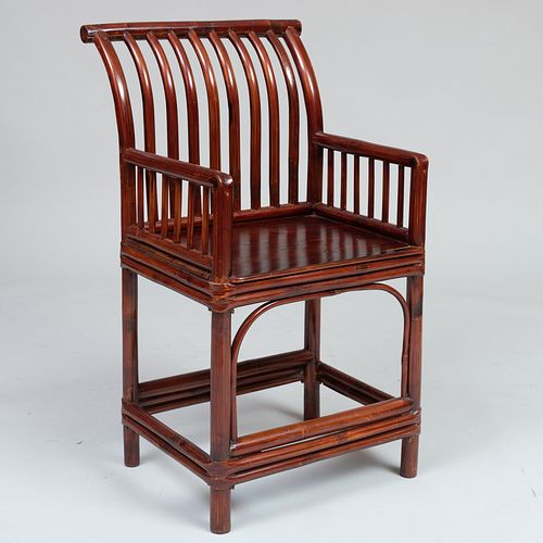 Chinese Bamboo Armchair