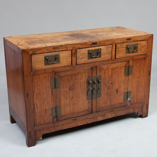 Chinese Elm Side Cabinet