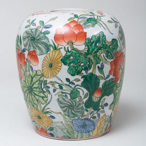 Chinese Export Porcelain Ginger Jar