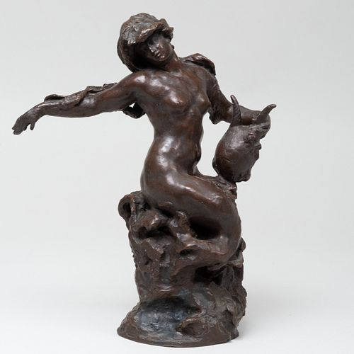 After Aimé-Jules Dalou (1838 - 1902): The Bather