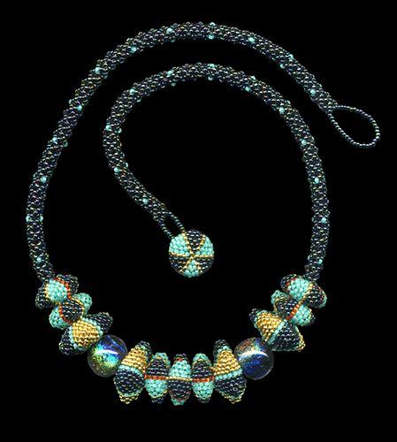 Accordian Bead necklace