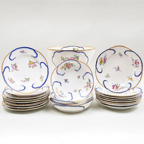 Assembled Sèvres Porcelain Part Service