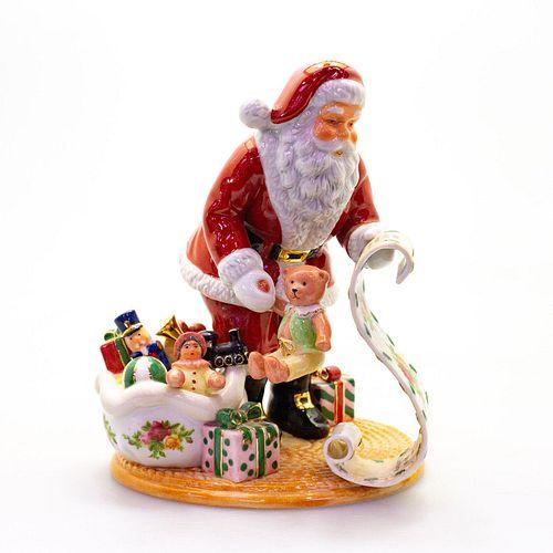 Royal Albert Figural Group, Santa's List RA8