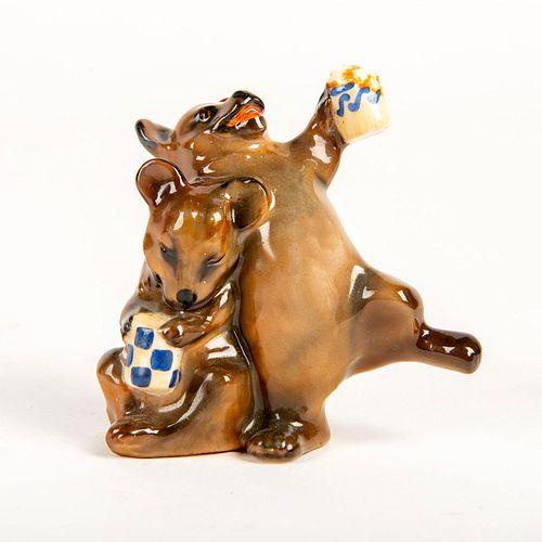 Rare Royal Doulton Figure, Bears Drinking HN940
