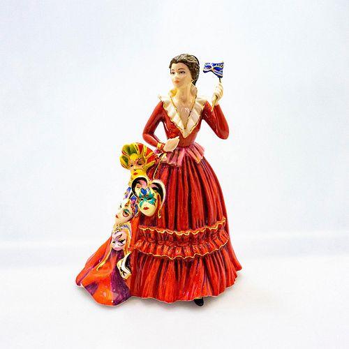 English Ladies Co. Porcelain Figurine, The Mask Seller