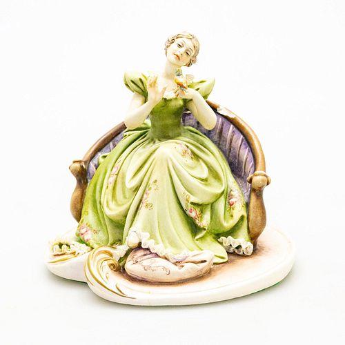 Antonio Borsato Figurine, Woman With Bird