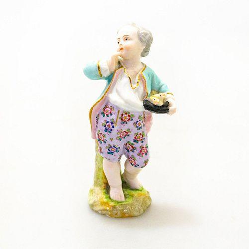 Meissen Small Figurine, Little Boy with Chicks