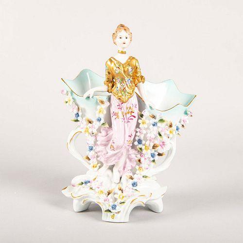 R. Klemm Dresden Double Vase Figurine