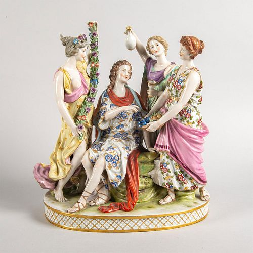 Sitzendorf Figural Group of Four Women