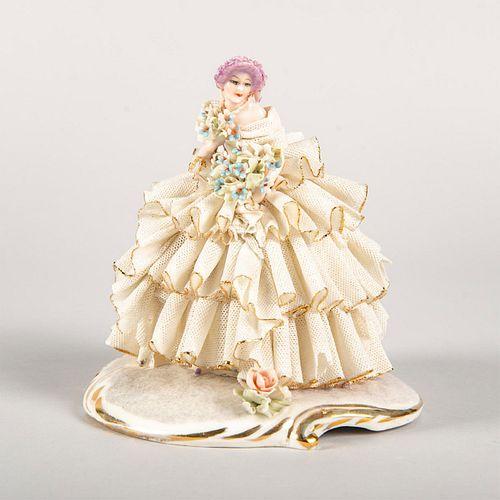 Vintage German Lace Porcelain Lady Figurine