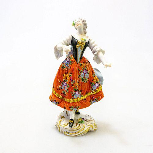 Vintage Volkstedt Porcelain Lady Figurine