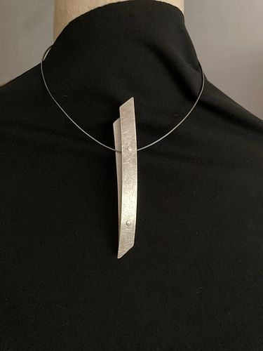 Silver Brooch on Silver wire