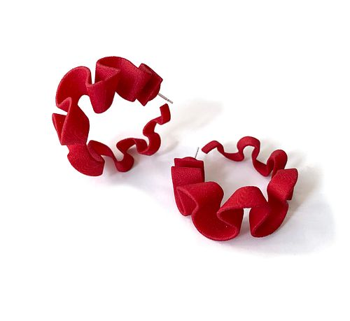 Ribbon Hoops -Red