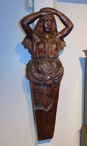 ANTIQUE SHIP FIGUREHEAD OF LADY