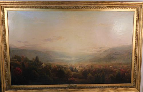 JF KENSETT - LARGE PAINTING OF CONNECTICUT