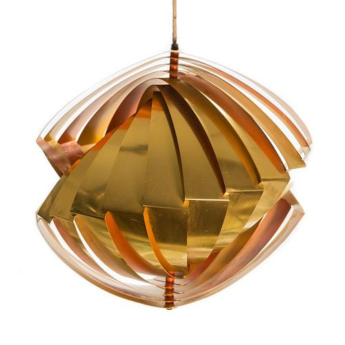 Mid Century 20th Century Louis Weisdorf Conch Hanging Pendant Lamp
