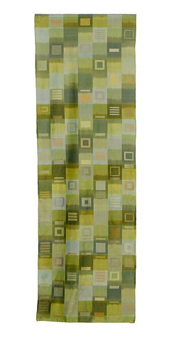 Playing in the Woods -- Warp Ikat + Supplemental Weft Silk Wall Hanging