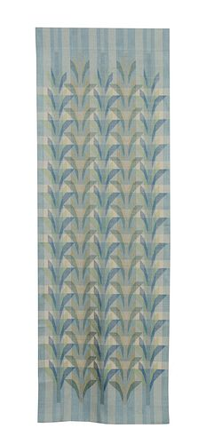 Walk by the Sea -- Silk Wall Hanging with Supplemental Weft