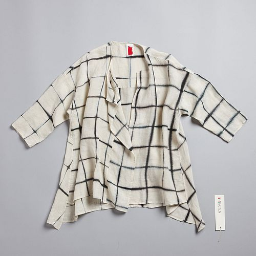 Intersection Lounge Shirt in Ecru + Anthracite