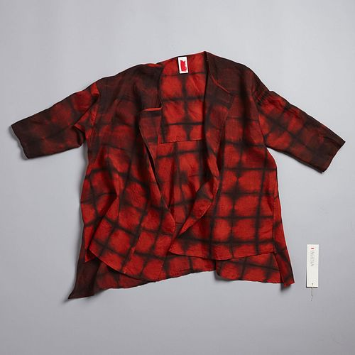Abstract Squares Lounge Shirt in Lycoris + Anthracite