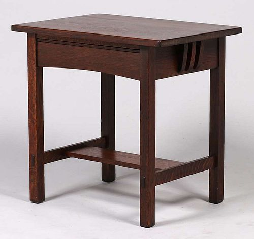 Limbert Small One-Drawer Side Table Desk c1910