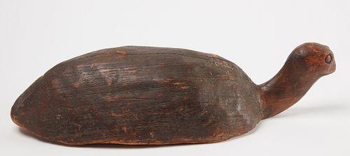 Early Folk Art Turtle Decoy
