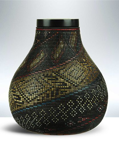 Keoni Promises Made Carved Wood Vessel