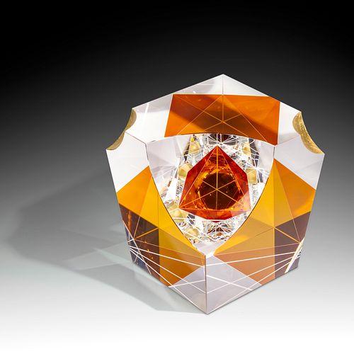 Pavel Novak Sunset Cold-Worked Glass