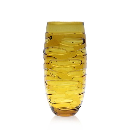 Incision Series Tall Vase- Amber