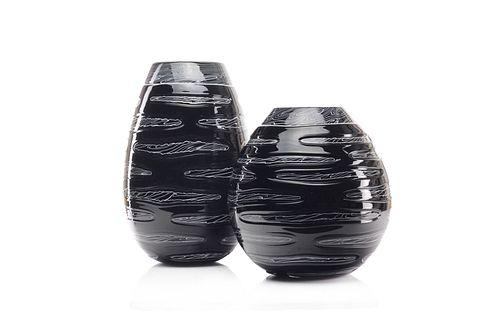 Incision Series Tre Strati Marmo-Wide Vase