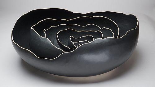 Large Oval Black Nesting Bowls