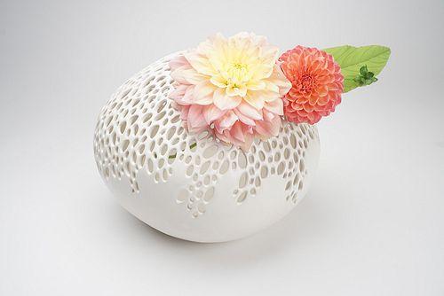 Oval Bubble Vase