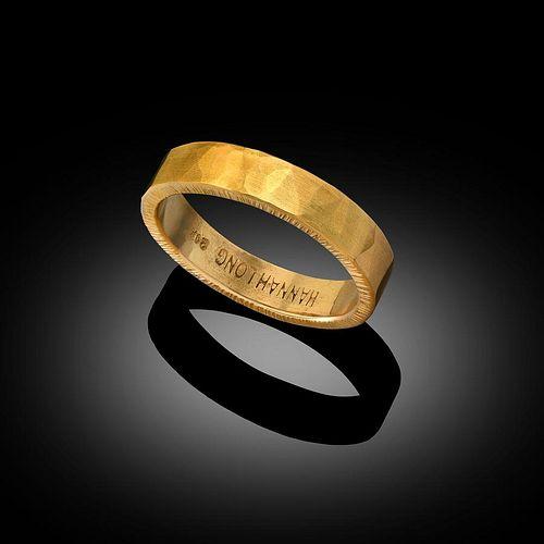 Textured 22 Karat Gold Ring