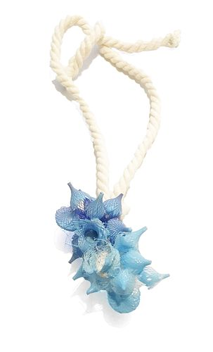 Resin Cluster Necklace in Blues