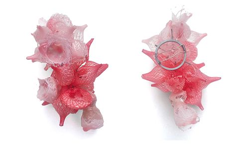 Resin Cluster Brooch in Pinks