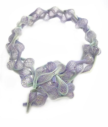 Braided Necklace Lavendar