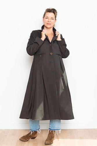 Brown Pinstripe Coat