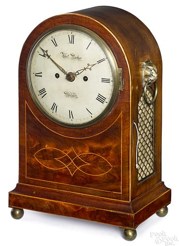 Mahogany bracket clock, early 19th c.