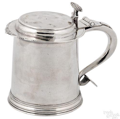 New York silver tankard, ca. 1740