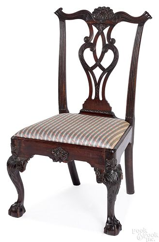 Philadelphia Chippendale mahogany dining chair