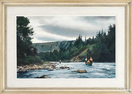 Ogden Minton Pleissner watercolor landscape
