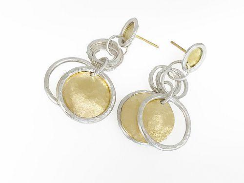 Circle & Rings Earrings