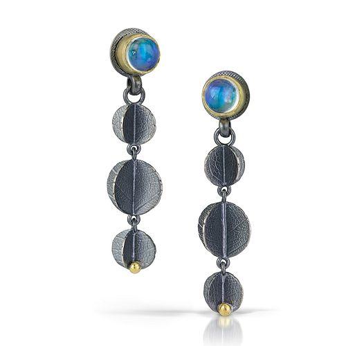 Moonstone Triple Blossom Earrings