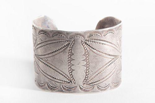 A Navajo Silver Cuff, ca. 1930