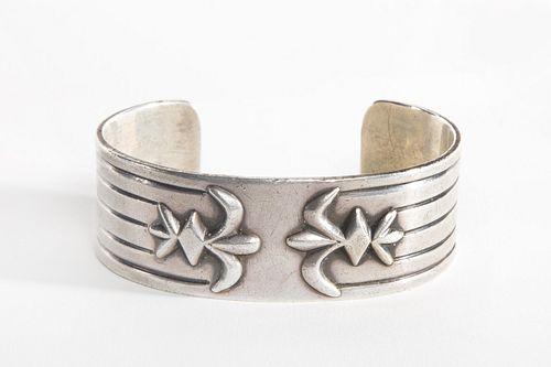 A Hopi or Pueblo Silver Cuff, ca. 1940-1950
