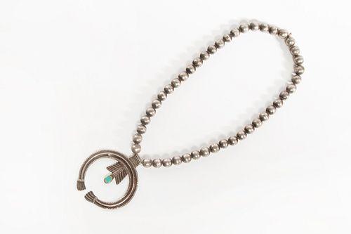 A Historic Navajo Silver Necklace, ca. 1920